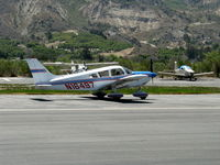 N16497 @ SZP - 1973 Piper PA-28-235 CHEROKEE CHARGER, Lycoming O-540-D4B5 235 Hp, another landing roll Rwy 22, Young Eagles Flight - by Doug Robertson