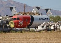 N920AU @ DMA - P-3A Orion Aero Union fuselage part in a field near Davis Monthan AFB