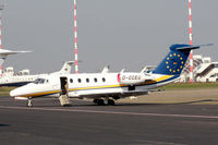 D-CCEU @ EDDL - Air Traffic Cessna parked for service - by Günter Reichwein
