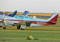 N1250Y @ LFBH - Parked on the grass... - by Shunn311