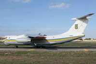 76413 @ LMML - Ilyushin IL-76MD 76413 Ukranian Air Force - by Raymond Zammit