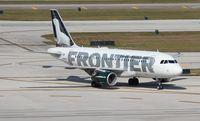 N949FR @ FLL - Frontier Emma the Ermine