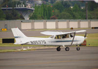 N9537Q @ KRNT - Cessna 172 during engine warm up. - by Eric Olsen