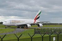 A6-EDL @ EGCC - Just landed at Manchester. - by Graham Reeve