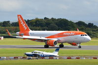 G-EZON @ EGCC - Just landed at Manchester. - by Graham Reeve