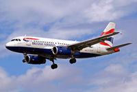 G-EUPP @ EGLL - Airbus A319-131 [1295] (British Airways) Heathrow~G 01/09/2006. On finals 27L.
