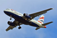 G-EUPP @ EGLL - Airbus A319-131 [1295] (British Airways) Home~G 12/06/2010. On approach 27R.
