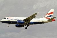 G-EUPD @ EGLL - Airbus A319-131 [1142] (British Airways) Heathrow~G 31/08/2006. On approach 27L.