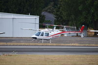 N1368X @ KCLS - Bell 206A sitting peaceful at KCLS - by Eric Olsen