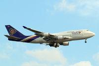 HS-TGB @ EGLL - Boeing 747-4D7 [32370] (Thai Airways) Home~G 19/06/2015. On approach 27L.