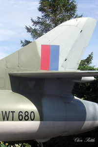 WT680 - Close up tail shot - Preserved in a public car park at the Anglia Cafe, Fleet Hargate, Lincolnshire. - by Clive Pattle