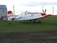 C-GLLG - Parked at Three Hills, Alberta - by Harry Tucker