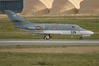 129 @ LFRJ - Dassault Falcon 10 MER, Taxiing after landing rwy 26, Landivisiau Naval Air Base (LFRJ) - by Yves-Q