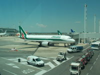 I-BIKA @ LIRF - Alitalia A320-200 Parked At The Gate - by Christian Maurer