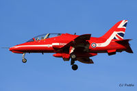 XX227 @ EGPK - Flt Lt Emmet Cox 'Red 3' landing back at Prestwick EGPK after displaying with the Red Arrows at the Scottish Airshow 2015 held at Ayr seafront and Prestwick Airport EGPK and at Portrush, Northern Ireland on the same day. - by Clive Pattle