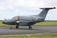 054 @ LFOA - Embraer EMB-121AA Xingu, Taxiing after landing rwy 06, Avord Air Base 702 (LFOA) open day 2012 - by Yves-Q