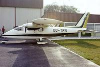 OO-TPN @ EBAW - Partenavia P.68B Victor [88] Antwerp-Deurne~OO 12/05/1979. From a slide.