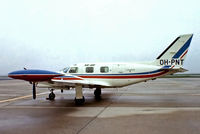 OH-PNT @ EHAM - Piper PA-31T Cheyenne II [31T-7520007] (Sir-air) Amsterdam-Schiphol~PH 12/05/1979. From a slide.