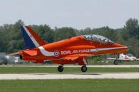 XX263 @ LFMY - Royal Air Force Red Arrows Hawker Siddeley Hawk T.1, Take-off Rwy 34, Salon de Provence Air Base 701 (LFMY) Open day 2013 - by Yves-Q