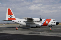 1709 @ KPRB - US Coast Guard Sacramento, CA-Based HC-130H @ Paso Robles Municipal Airport, CA prior to paradrop mission over nearby Hunter-Liggett Military Reservation. This HC-130H is scheduled to be transferred to the US Forest Service. - by Steve Nation