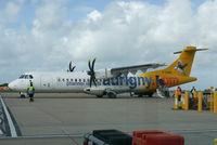 G-COBO @ EGJB - Just landed at Guernsy.