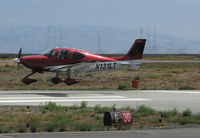 N131LT @ KSQL - 2012 Cirrus Design SR22T over the threshold @ San Carlos Municipal Airport, CA - by Steve Nation