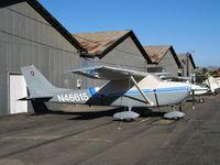 N46615 @ SZP - Locally-Based 1968 Cessna 172K with cockpit cover @ Santa Paula Airport, CA - by Steve Nation