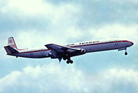 G-APMB @ EGKK - De Havilland DH.106 Comet 4B [6422] (Dan-Air London) Gatwick~G 01/07/1974. From a slide.