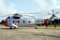 U-280 @ EGVI - U-280   Sikorsky S-61A-1 Sea King [61280] (Royal Danish Air Force) RAF Greenham Common~G 27/06/1981. From a slide.