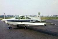OO-LIZ @ EBAW - American Aviation AA-5 Traveler [AA5-0441] Antwerp-Deurne~OO 12/05/1979. From a slide.