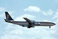 G-AZJM @ EGKK - Boeing 707-324C [18886] (British Caledonian Airways) Gatwick~G 30/04/1978. From a slide.