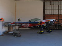 N101PK @ SZP - Locally-Based 1994 Extra EA-300 in hangar minus prop @ Santa Paula Airport, CA (sold to new owner later in 2007 and destroyed 19 April 2009 while performing aerobatic maneuvers ~ 2 miles off El Capitan State Beach, Santa Barbara, CA. 1 fatality. - by Steve Nation