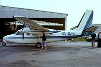 OO-DAM @ EBAW - Aero Commander 500B [893-1]  Antwerp-Deurne~OO 14/09/1985. From a slide.
