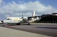 D2-03 @ EGVI - Fokker F-27-200MPA Friendship [10587] (Spanish Air Force) RAF Greenham Common~G 27/06/1981. From a slide