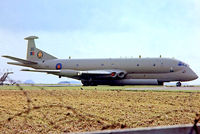 XV246 @ EGDG - XV246   Hawker-Siddeley Nimrod MR.2 [8021] (Royal Air Force) RAF St Mawgan~G 27/06/1981 - by Ray Barber