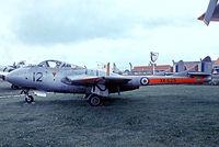 XK625 @ EGMC - De Havilland DH.115 Vampire T.1 [15782] (Royal Air Force) Southend~G 03/07/1974. From a slide.