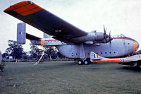 XB261 @ EGMC - Blackburn Beverley C.1 [1004] (Royal Air Force) Southend~G 03/07/1974. From a slide.