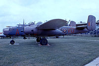 N9089Z @ EGMC - North American TB-25J Mitchell [108-34136] Southend~G 03/07/1974. From a slide wearing false marks..