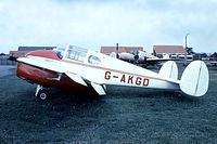 G-AKGD @ EGMC - Miles M.65-1A Gemini [6492] Southend~G 03/07/1974. From a slide.