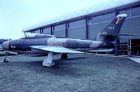 FU-6 @ EGMC - Republic F-84F Thunderstreak [52-7133] (Belgian Air Force) Southend~G 03/07/1974. From a slide.