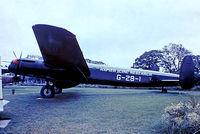 G-APRJ @ EGMC - Avro Lincoln B.2 [Unknown) (D Napier & Son Ltd) Southend~G 03/07/1974. From a slide.