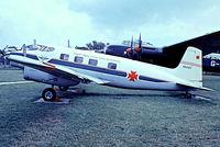 G-APXX @ EGMC - De Havilland Australia DHA.3 Drover Mk.2 [5014] Southend~G 03/07/1974.From a slide. Wears false marks of VH-FDT.
