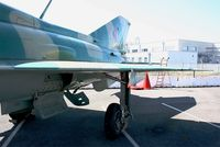 770 @ LFBO - Mikoyan-Gurevich MiG-21SPS, Close view of main landing gear, Preserved at Les Ailes Anciennes Museum, Toulouse-Blagnac - by Yves-Q