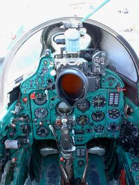 770 @ LFBO - Mikoyan-Gurevich MiG-21SPS, Close view of cockpit, Preserved at Les Ailes Anciennes Museum, Toulouse-Blagnac - by Yves-Q