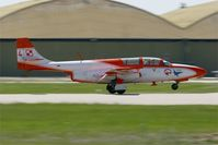 1708 @ LFMY - Poland Air Force Iskry Team PZL-Mielec TS-11A Iskra, Landing rwy 34, Salon De Provence Air Base 701 (LFMY) Open day 2013 - by Yves-Q