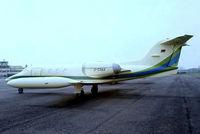 D-CDAX @ EBAW - Learjet 35A [35-135] Antwerp-Deurne~OO 12/05/1979. From a slide. - by Ray Barber