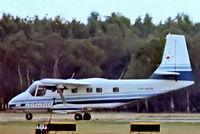 VH-AUN @ EGLF - GAF Nomad N22B [26] (Government Aircraft Factories) Farnborough~G 10/09/1976. From a slide.