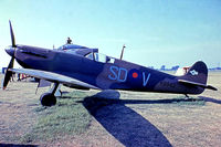 K9942 @ EGTB - Supermarine Spitfire Mk.Ia [6S/30225] (Royal Air Force) Booker~G 11/07/1971. From a slide.