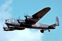 PA474 @ EGVI - Avro 683 Lancaster B.I [PA474] (Royal Air Force) RAF Greenham Common~G 07/07/1974. From a slide before the mid upper turret was added.
