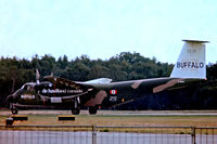 C-GBUF @ EGLF - De Havilland Canada DHC-5D Buffalo [60] (De Havilland Canada) Farnborough~G 10/09/1976. From a slide. - by Ray Barber
